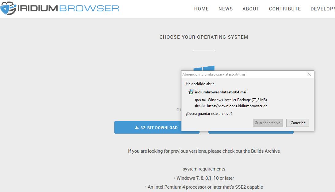 Cómo Google Chrome, pero con navegación segura