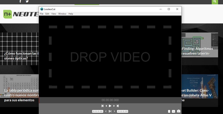 El corte lo realiza en pistas de vídeo y de sonido