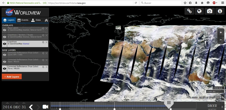 Muy buenas imágenes satelitales de la Tierra