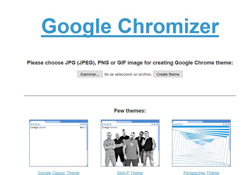 Crear templates de Chrome mediante colores