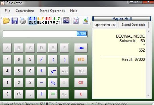 Opciones de cuentas numéricas