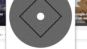 La velocidad adecuada para la ilusión óptica
