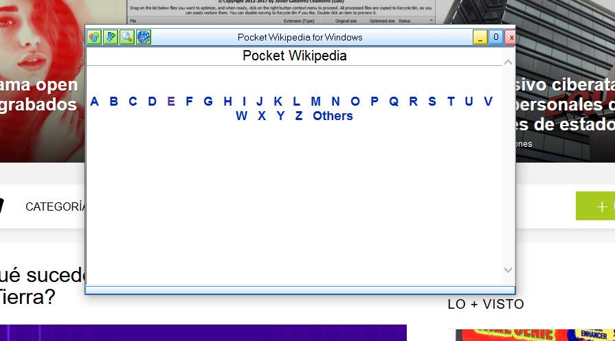 Observarás listadas todas las letras del abecedario