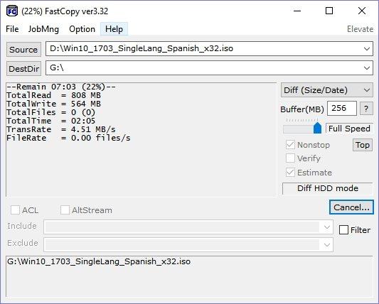 copiar archivos más rápido