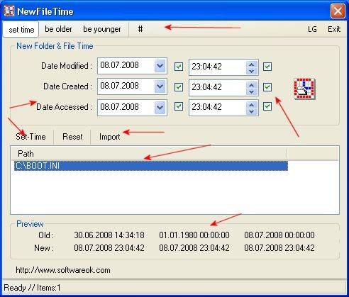 cambiar la fecha de un archivo