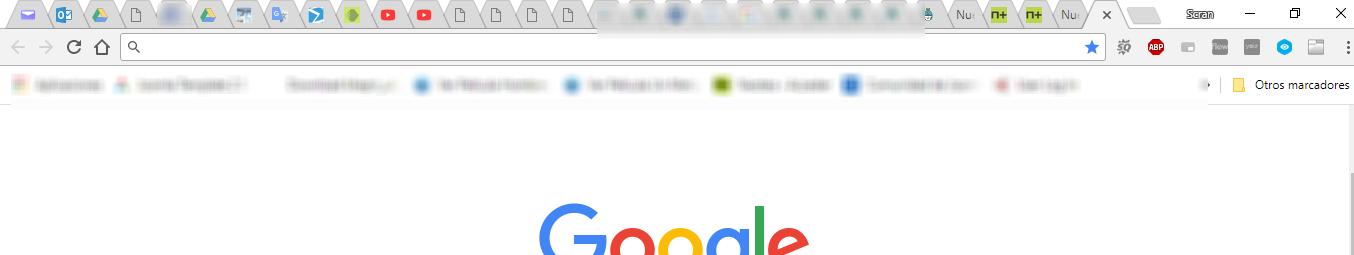 Muchas pestañas abiertas en el navegador Web