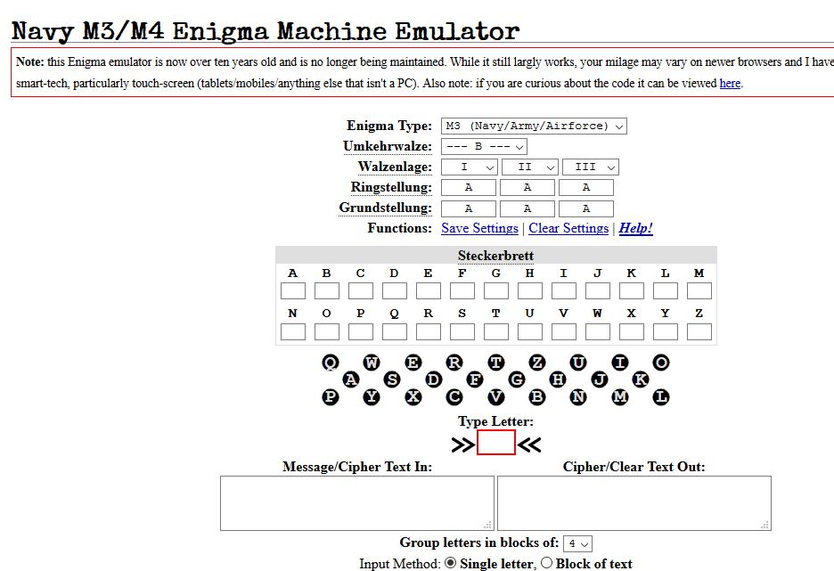 Simular máquina Enigma