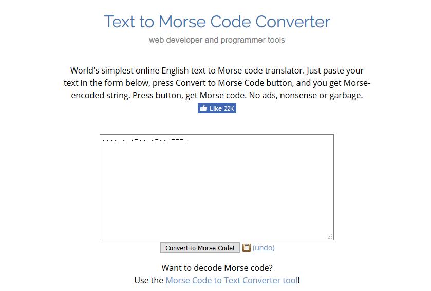Generar código Morse