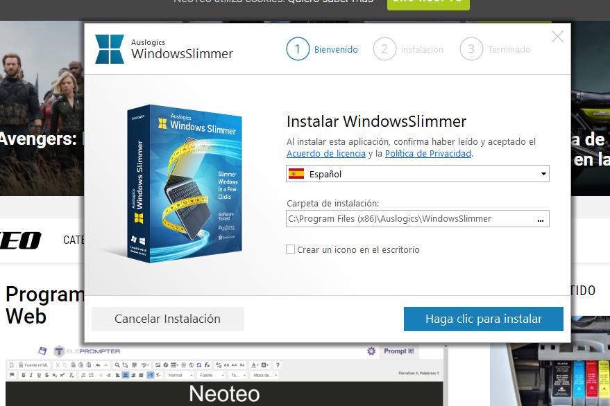 Un potente limpiador para Windows