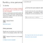 Configuración – Cuentas - Familia y otros usuarios - Agregar a otra persona al ordenador