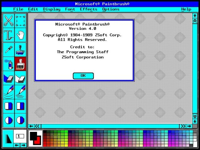 Microsoft Paintbrush
