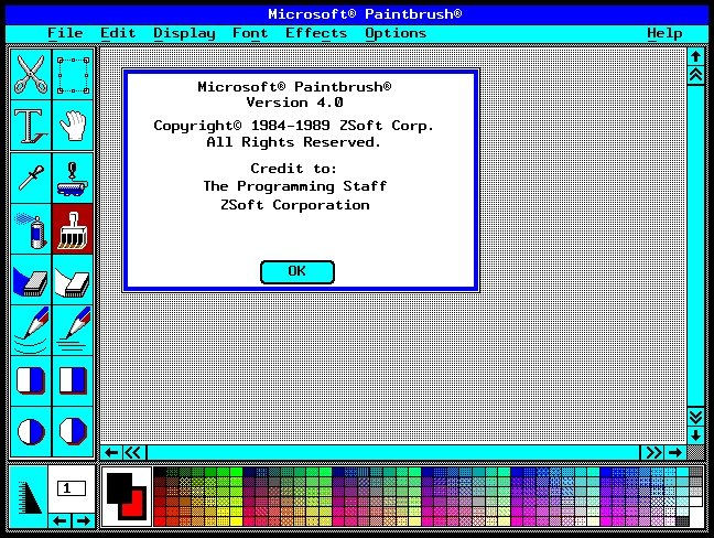 Microsoft Paintbrush