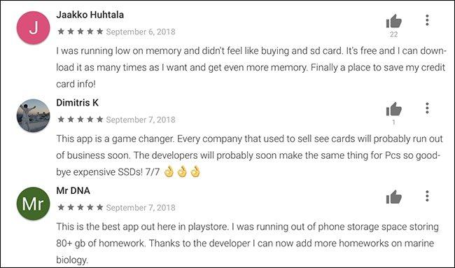 Descarga una tarjeta SD de la Play Store