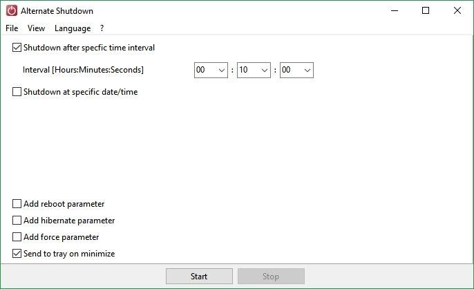 Programar el apagado automático