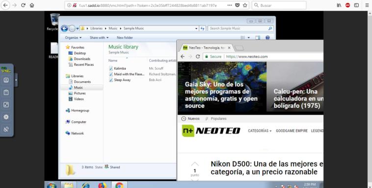 Windows en una pestaña de tu navegador Web