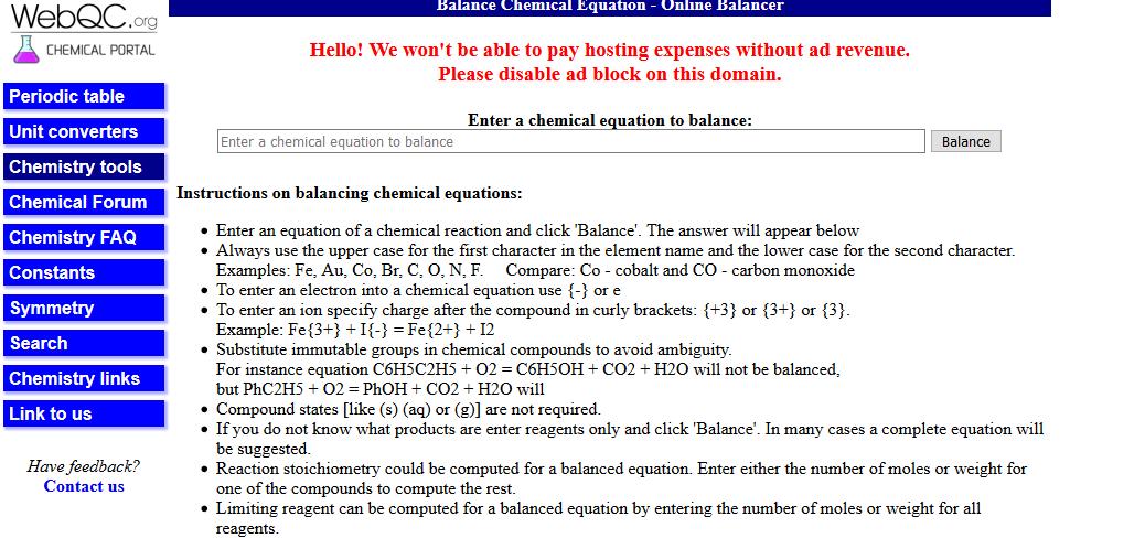 Equilibrar ecuaciones químicas