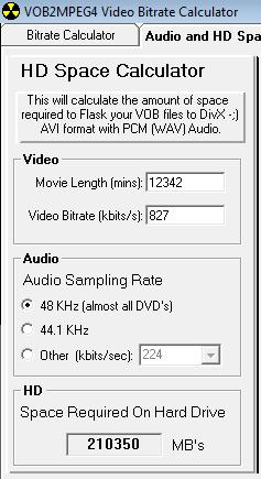 Muy fácil de calcular la velocidad de bits de un audio