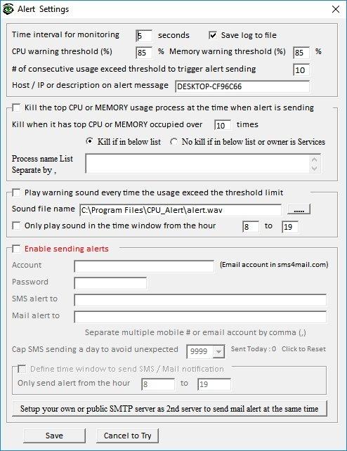 CPU Monitor and Alert
