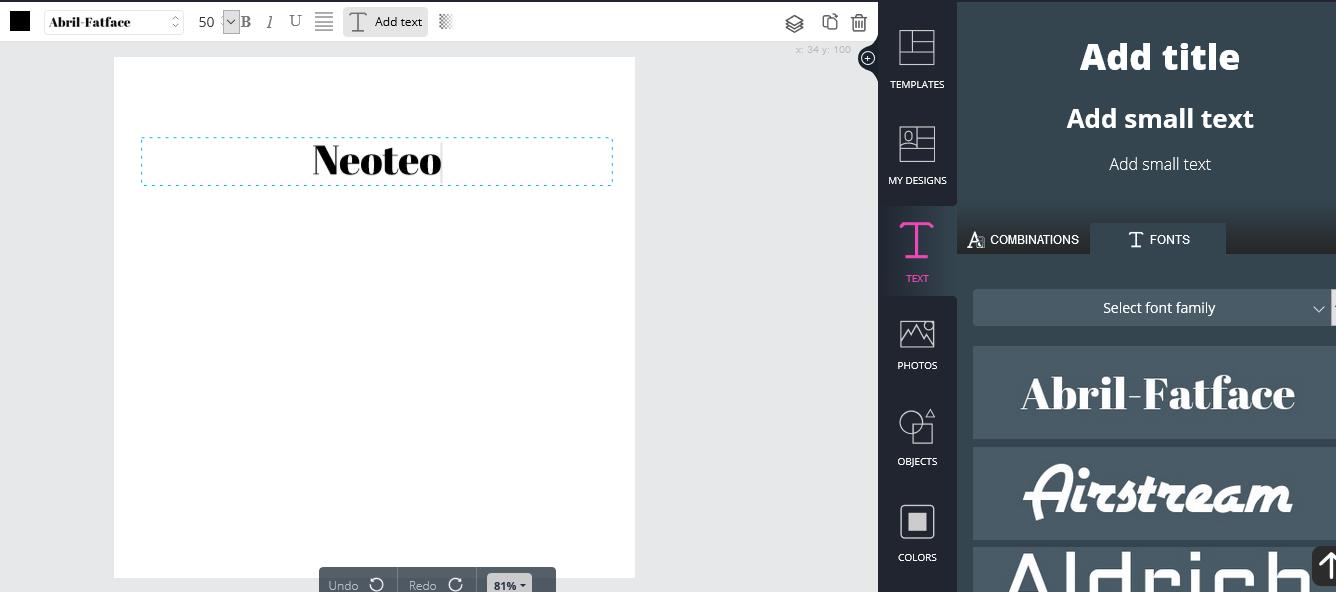 Opciones para personalizar el texto