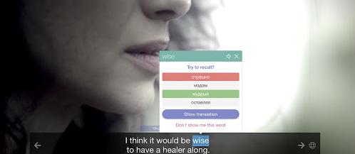 Tendrás que pasar el cursor por encima del subtítulo original