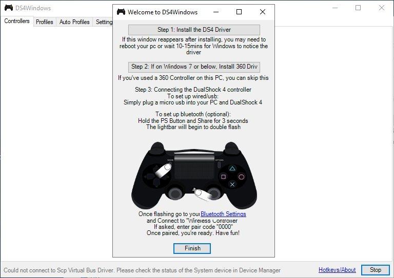 Cómo conectar un gamepad de PlayStation 4 en la PC
