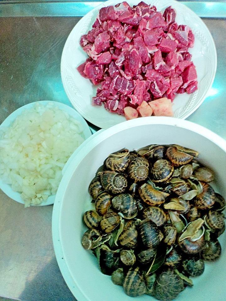 Ingredientes listos para la cocción