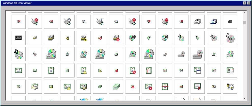 iconos de Windows 98