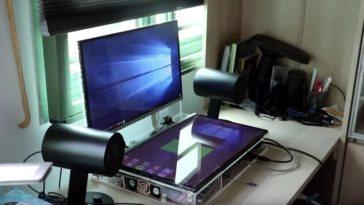 portátil con dos pantallas