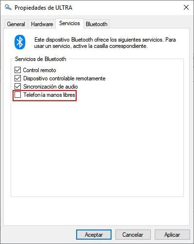 audio por bluetooth en windows 10