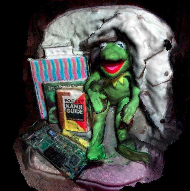 Una de las demos tiene a Kermit como modelo