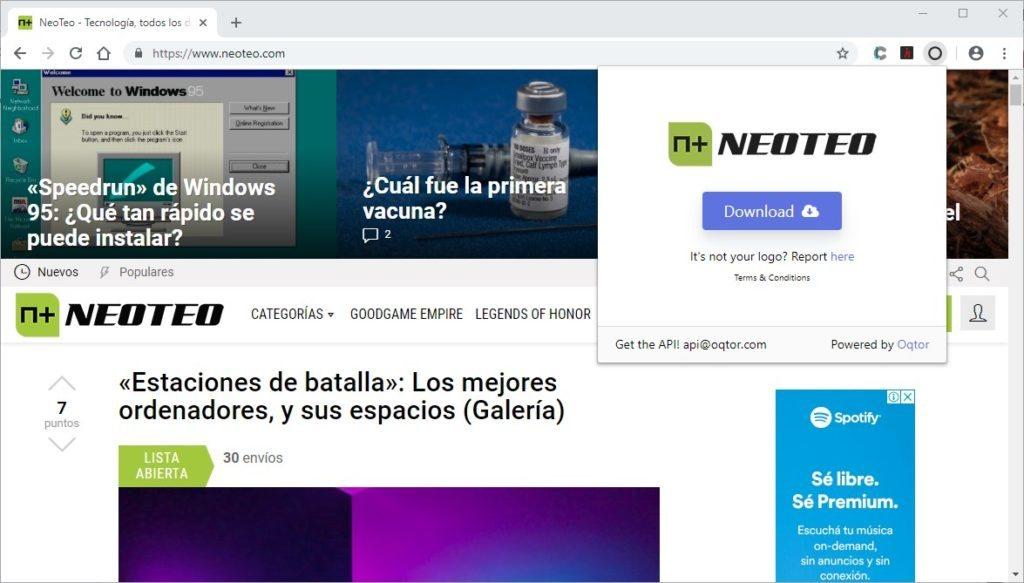 NeoTeo es uno de muchos sitios que funcionan con Logo Grabber