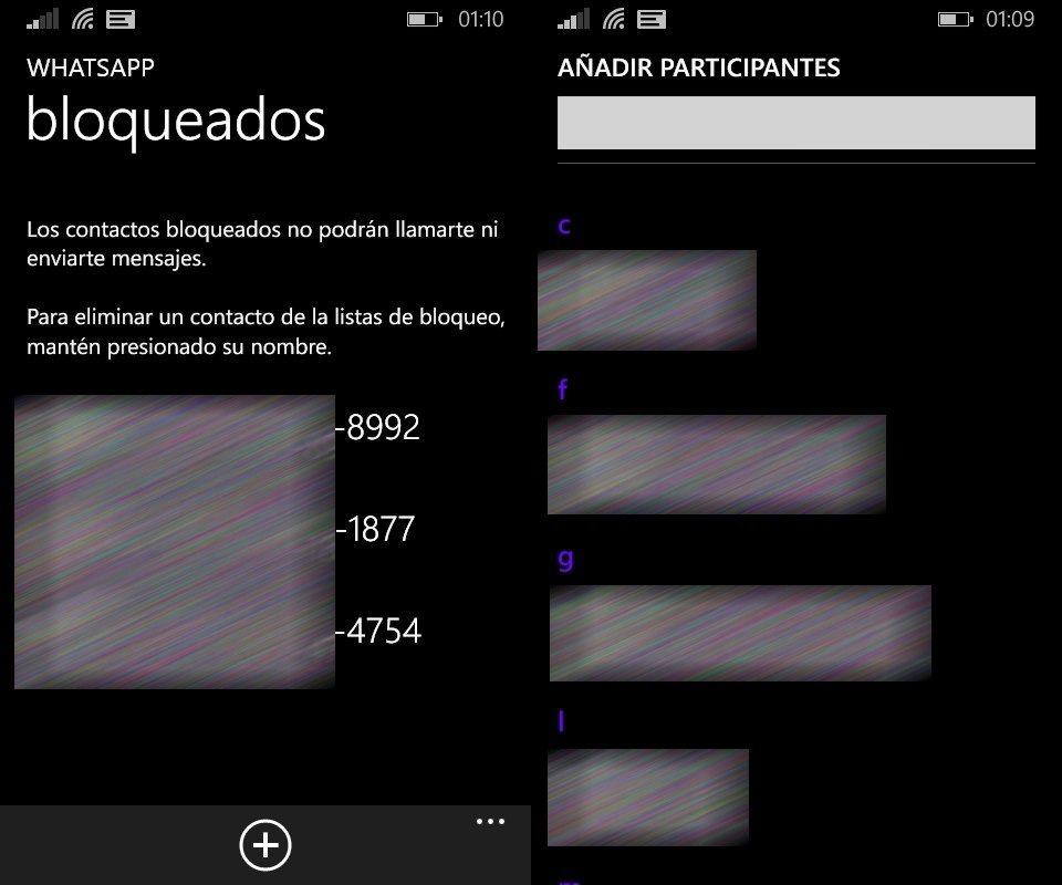 El bloqueo es «usuario-a-usuario», pero no aplica si ambos comparten un grupo creado por alguien más (sí, eso es Windows Phone, tranquilos)