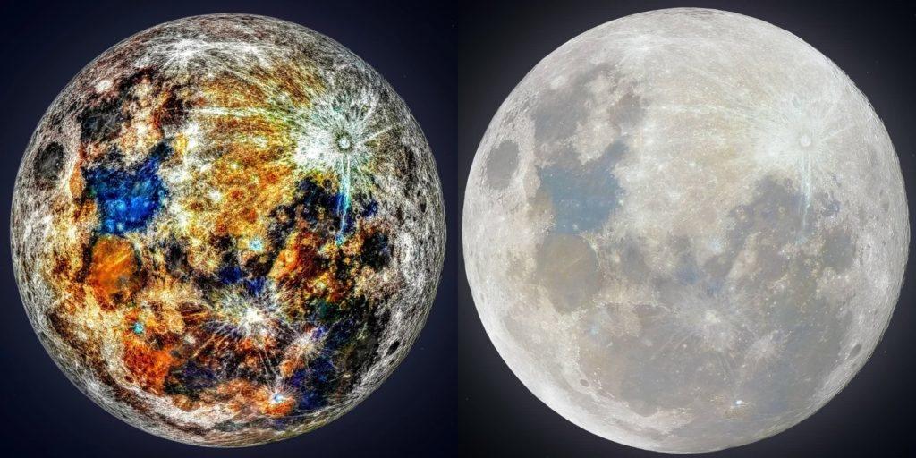 Los colores ocultos de la Luna