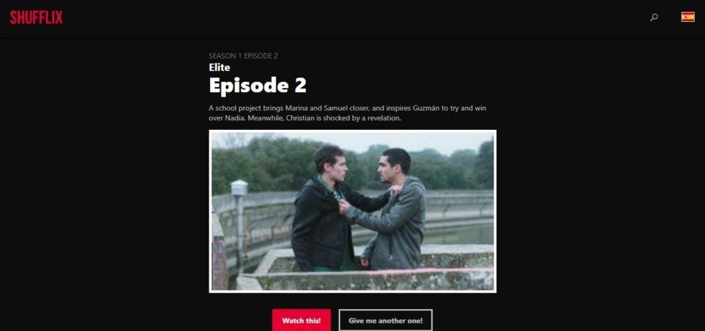 episodios aleatorios en Netflix