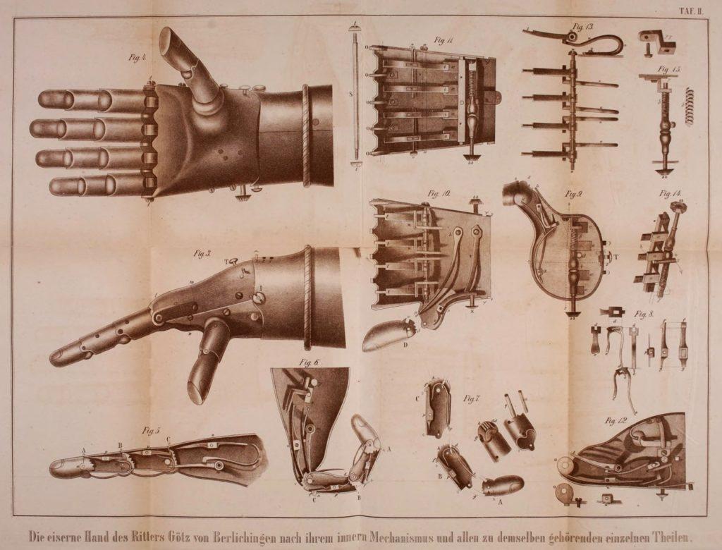 Algunos detalles técnicos sobre la construcción de la mano