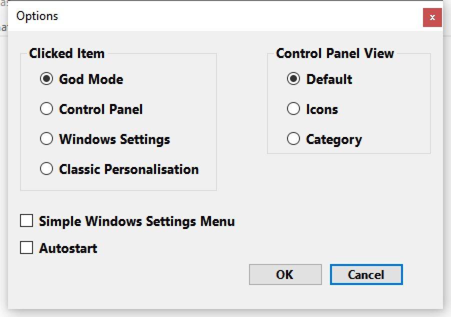 También podemos definir su comportamiento al hacer clic en el icono