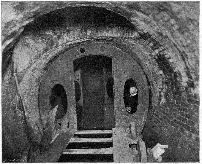 Parte del túnel y el carro fueron redescubiertos en 1912