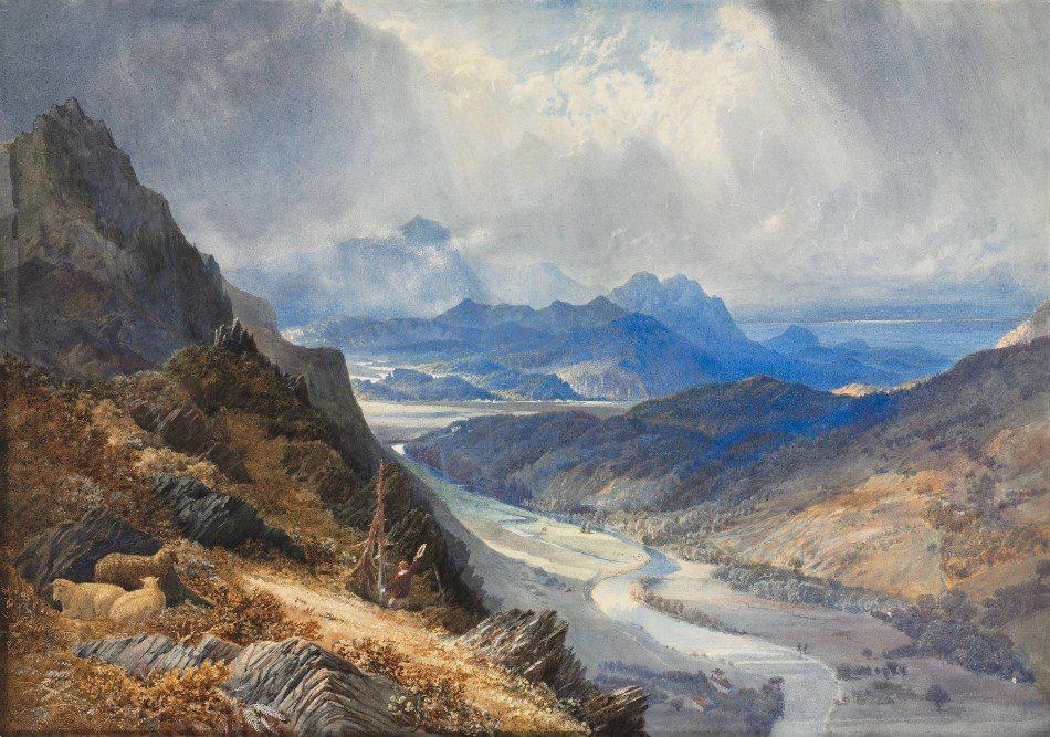 «Una mirada sobre el valle de Afon Mawddach» - William Turner, 1850
