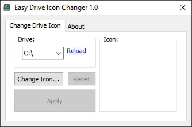 Como lo indica su nombre, Easy Drive Icon Change se concentra en las unidades