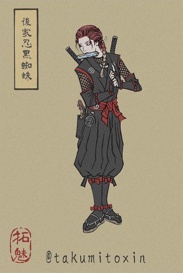 Obviamente, esencia Kunoichi para Black Widow