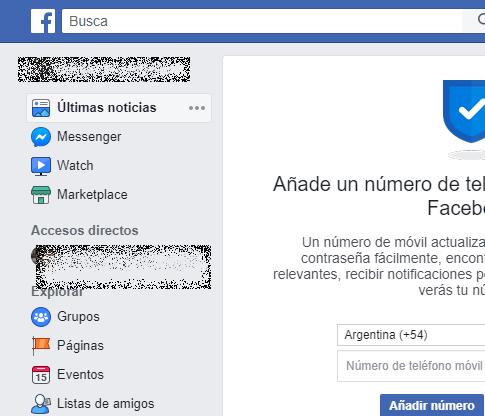 Ingresa a tu perfil de Facebook