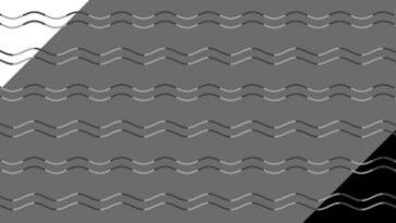 ilusión de las líneas sinuosas