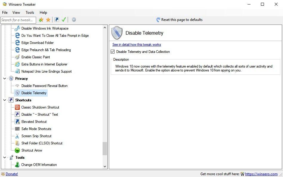 modificar la configuración de Windows
