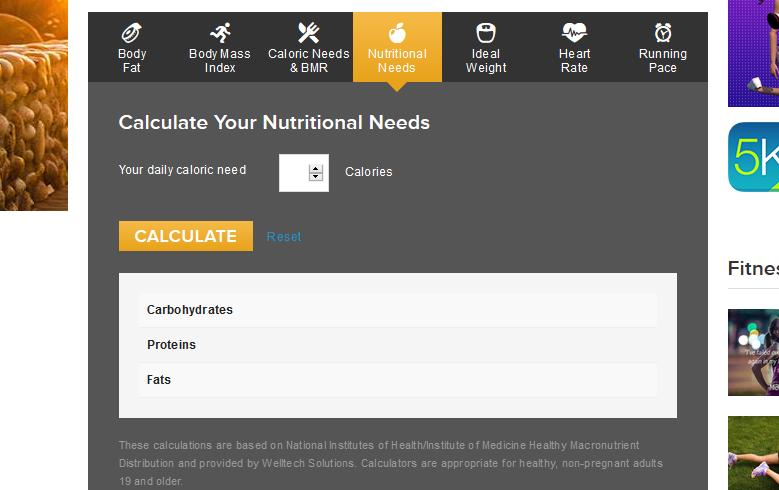 predictor de pérdida de peso basado en calorías