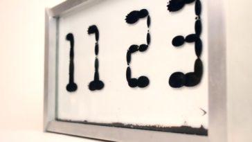 Reloj de ferrofluido