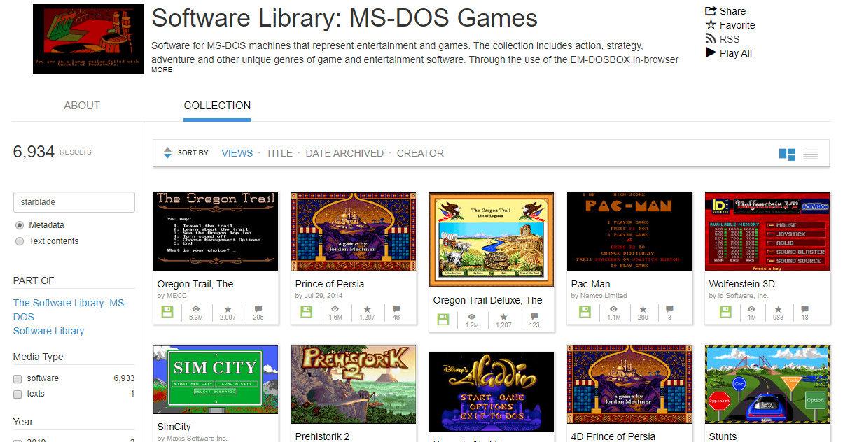 Juega gratis más de 6.900 juegos de MS-DOS en tu navegador