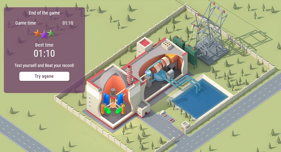 Construye una central nuclear