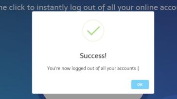 Cerrar sesiones con un clic