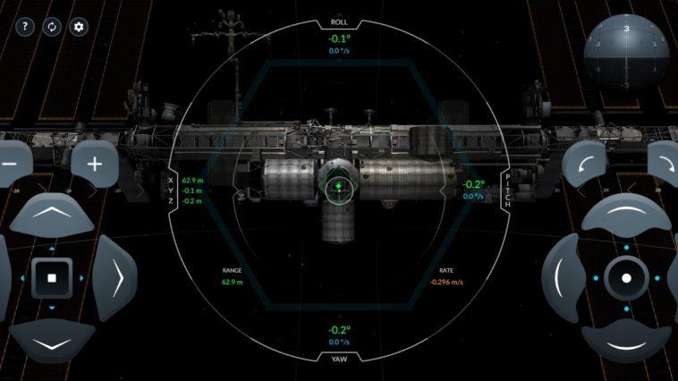 Simulador de la cápsula Crew Dragon
