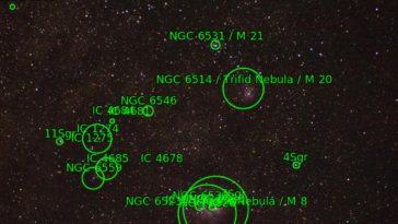 Cómo saber qué objetos aparecen en tu cielo nocturno